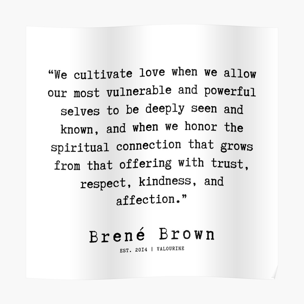 45 |190911 | Brene  Brown Quote  | Poster by QuotesGalore