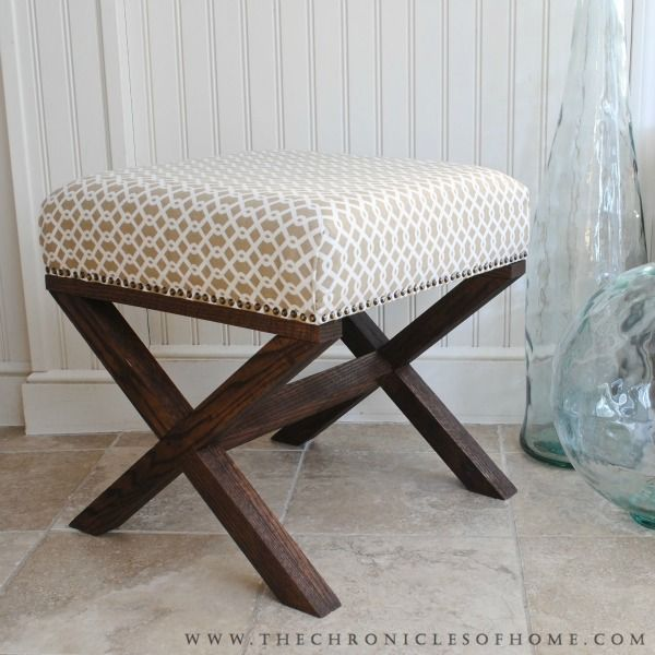Tutorial For Diy X Bench The Chronicles Of Home Diy Ottoman Furniture Diy Diy Stool