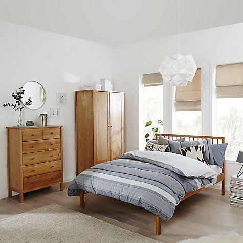 John Lewis Morgan Bed Frame, Double, Oak | Pinterest | John lewis ...