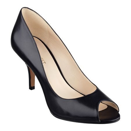 26364cdc13 Soft leather styles our Orissa peep-toe pumps sitting atop a slim ...