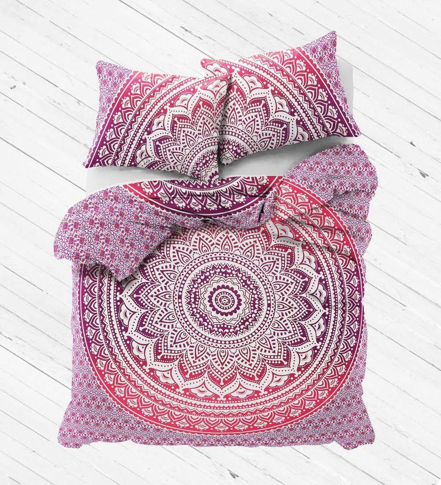 Home Decor Indian Mandala Queen Bed Sheet & 2 Pillow Slip