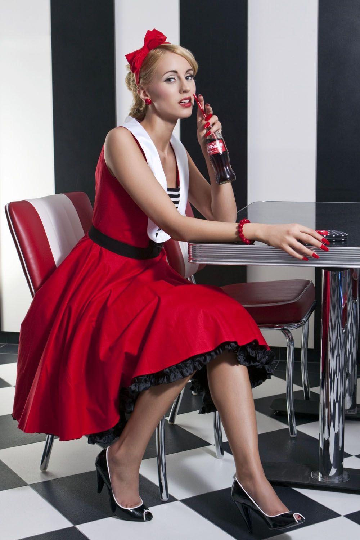 retro menyecske ruha retro polka dot dress fc71797d71