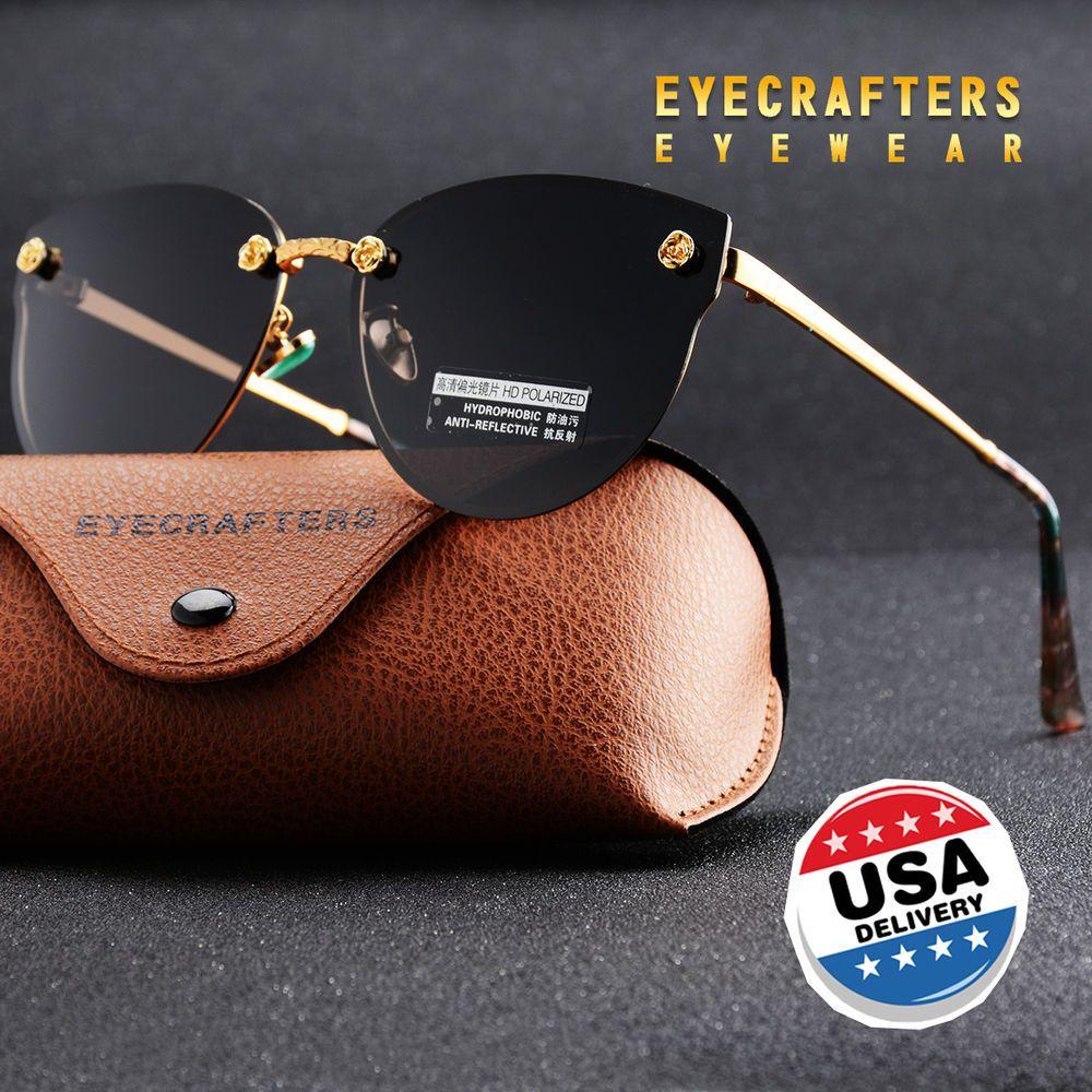 6ad42e2e6a Black New Women Polarized Sunglasses Brand Designer Ladies Retro Cat Eye  Sun Glasses Female Fashion Mirrored Eyewear Shades