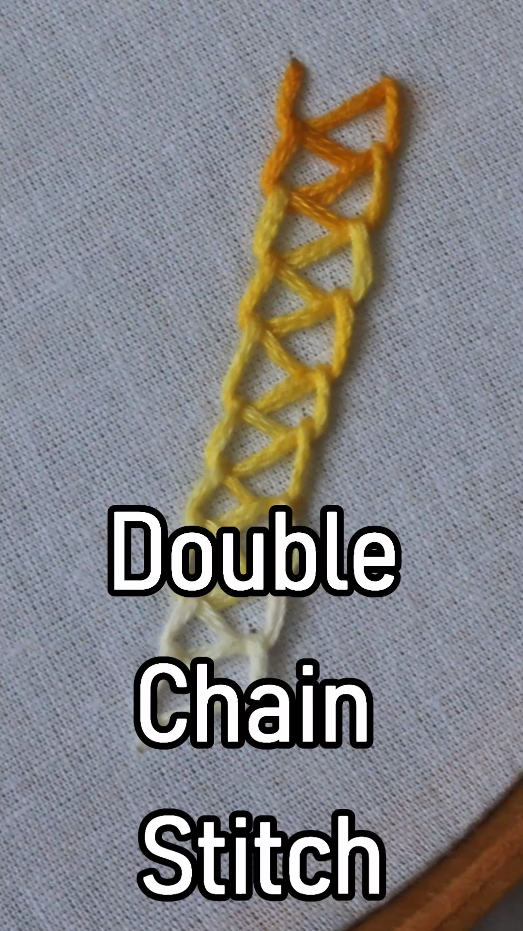 Double Chain Stitch in #embroidery #embroidery