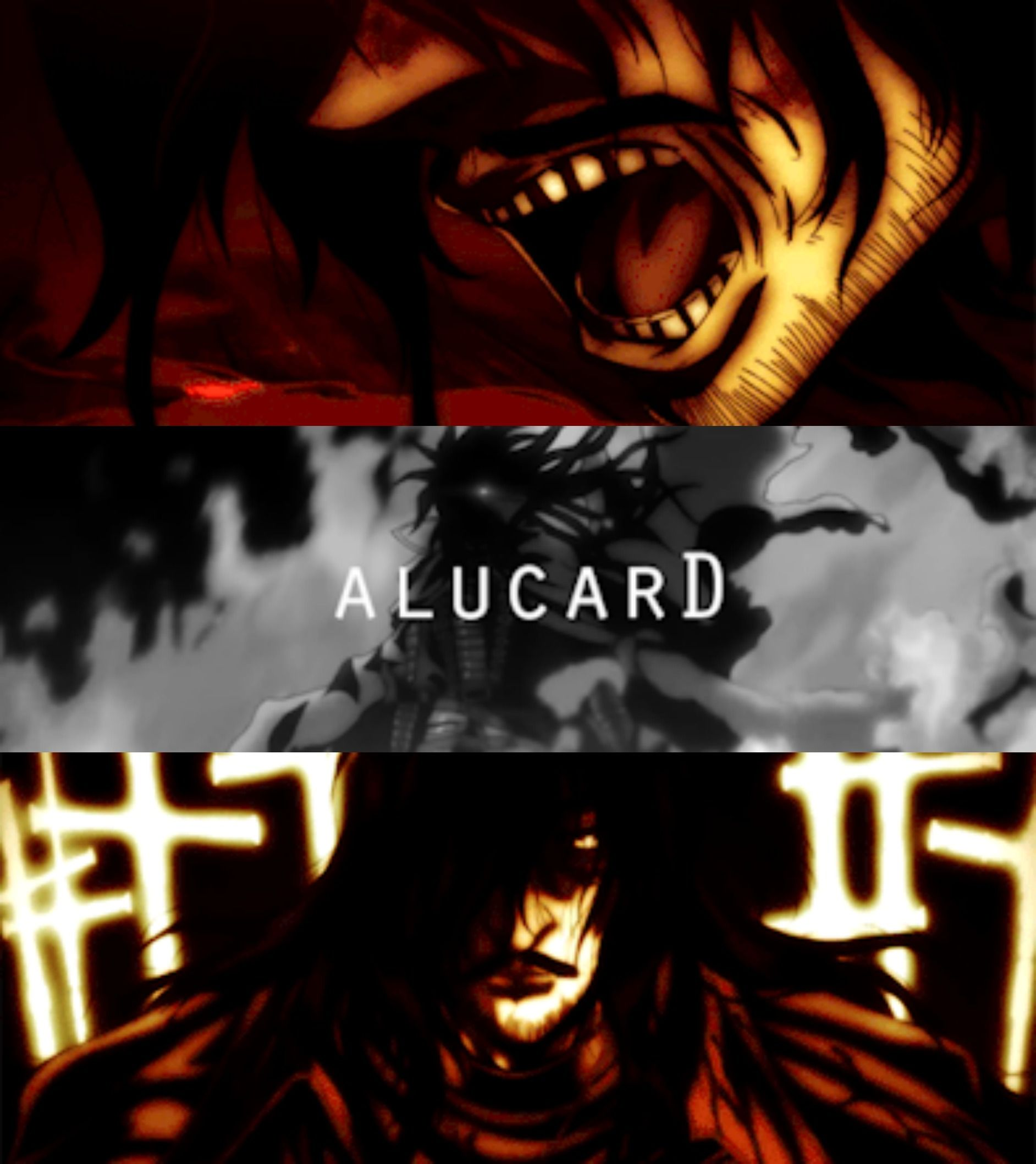 """Hellsing Ultimate - Alucard - the Count Level Zero Restriction - """"Don't cry demon. You became a monster because you didn't want to cry."""""""