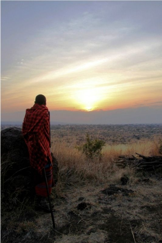 Sunset in Amboseli, Kenya