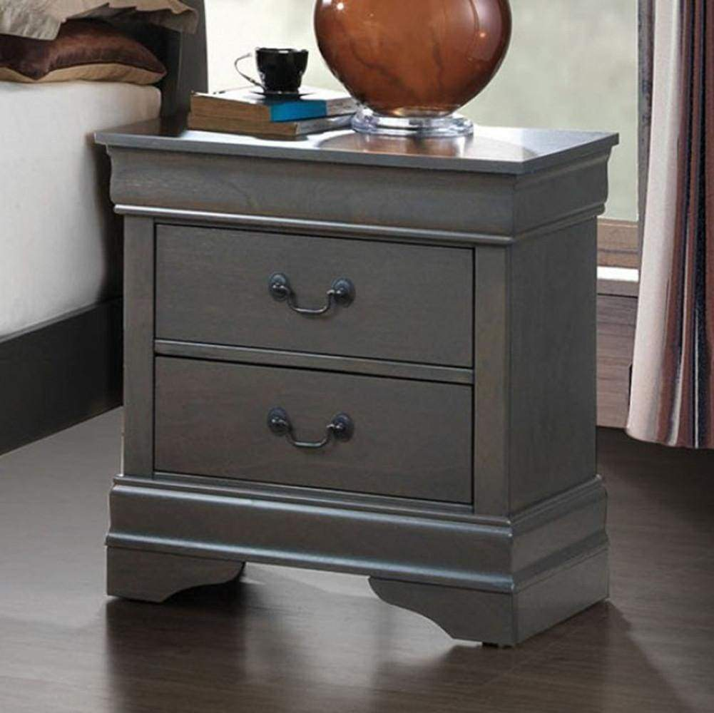 Best Louis Philippe Iii Contemporary Style Night Stand Gray By 400 x 300