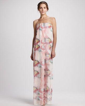 94f382853f7bb8 Alice Olivia Kiernan Floral Strapless Maxi Dress Alice Olivia   My ...