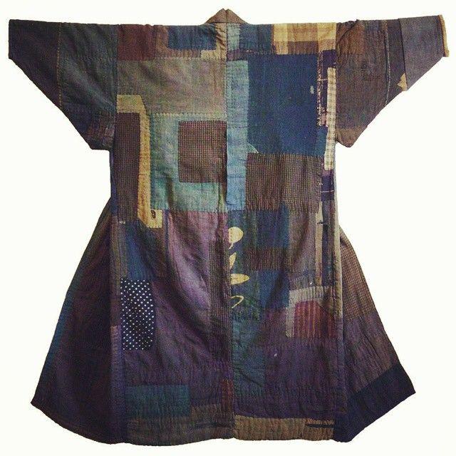 Cotton boro kimono from Japan's Tohoku- North west region of Japan https://www.pinterest.com/jenmurdoch5/