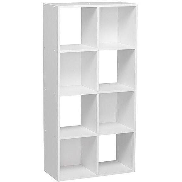 8 Unit Bookshelf White Target Australia 28 Liked On Polyvore
