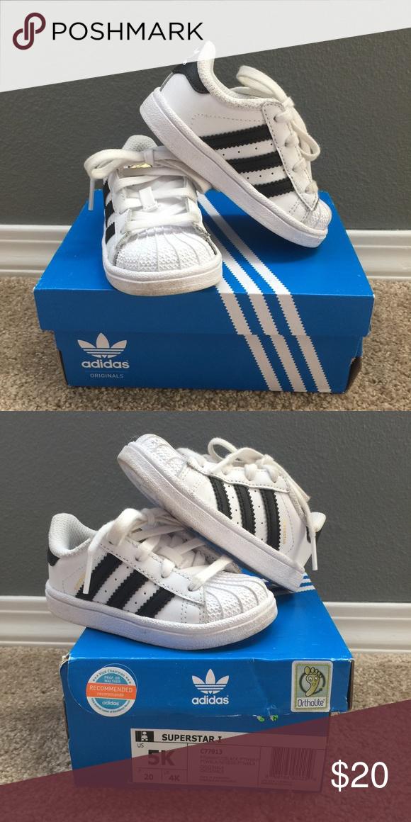 scarpe adidas superstar bianco elegante bambini figli di scarpe!usura normale