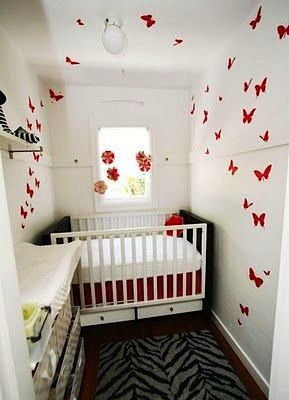 Aleena S Closet Turned Nursery Just Goes To Show That Small Is Cool And One Clever Feature Like These Fluttering Erflies Can Totally Make The Room