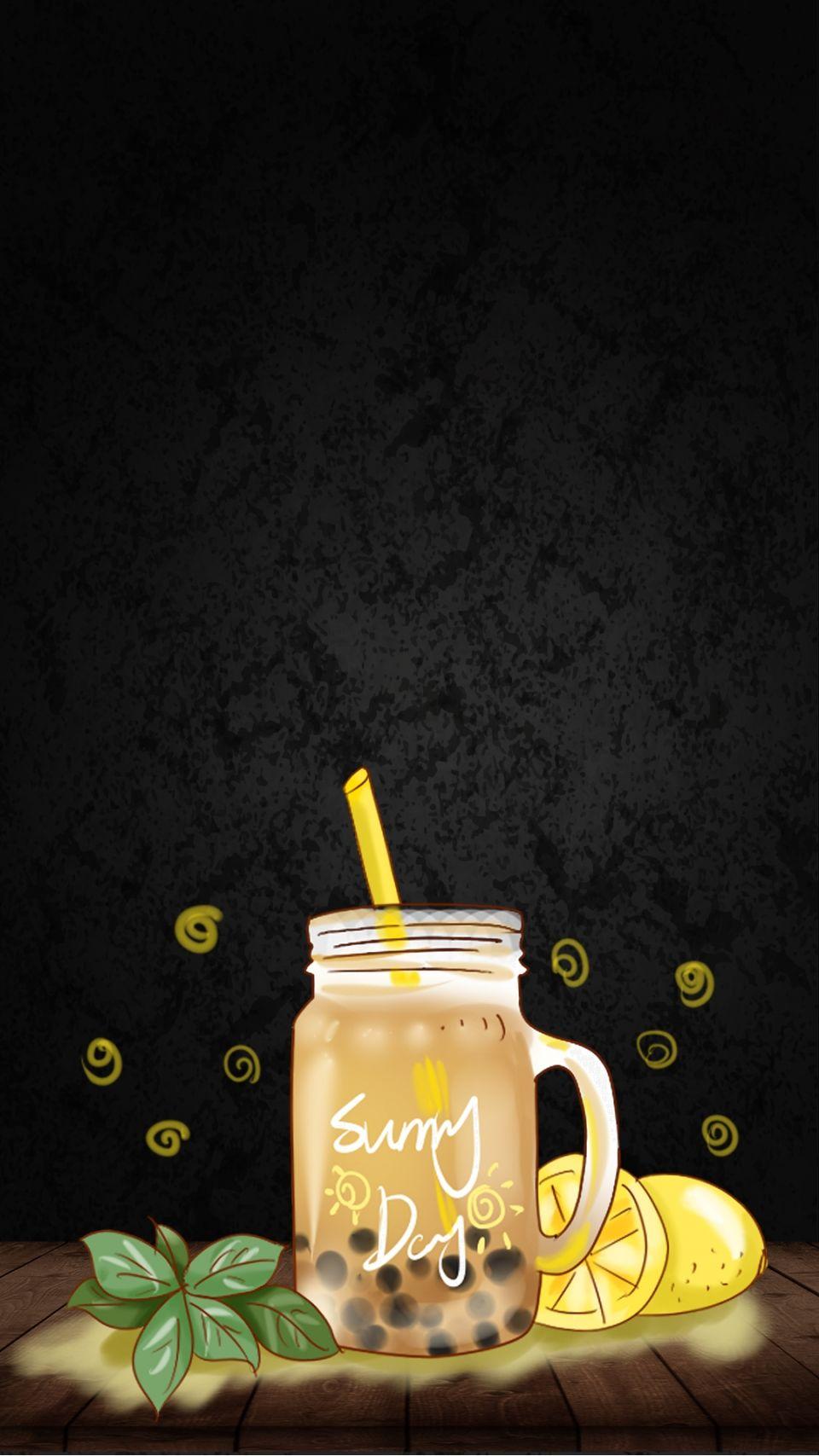 Black Orange Milk Tea Drink Orange Ch5 Background Material Milk Tea Tea Wallpaper Drinking Tea