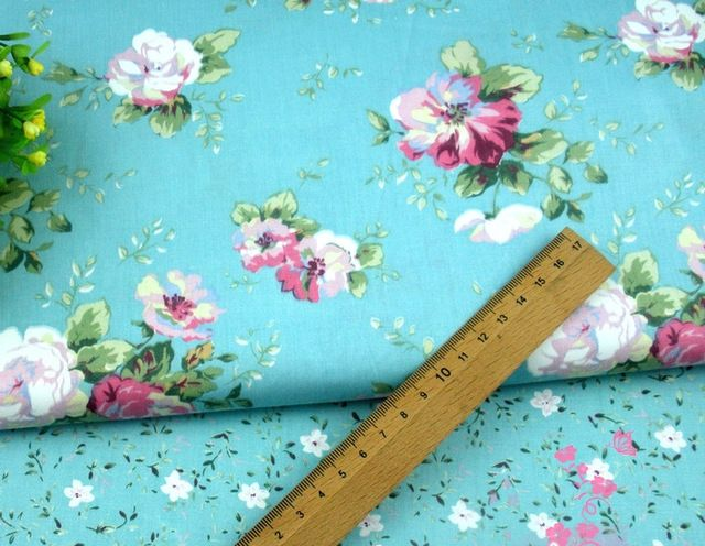 160cm*50cm fabric blue flower  cotton Printed cotton fabric sewing baby clothes kids bedding quilting patchwork tissue