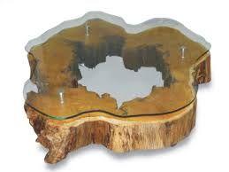 Image result for mesa com tampo de vidro e base de madeira