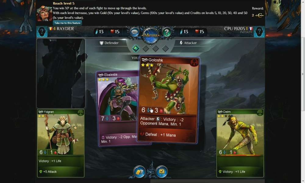 Fantasy Rivals Is A Browser Based Collectible Card Game Ccg