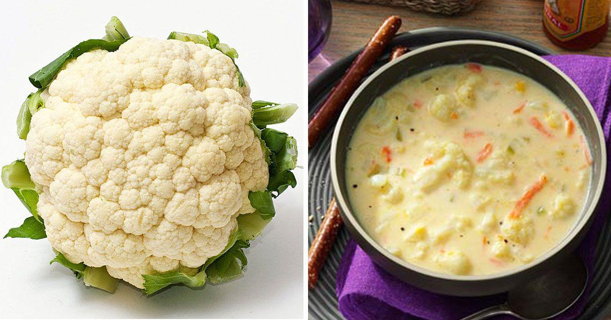 Výživná květáková polévka s mrkví a sýrem + výživové hodnoty   Čarujeme