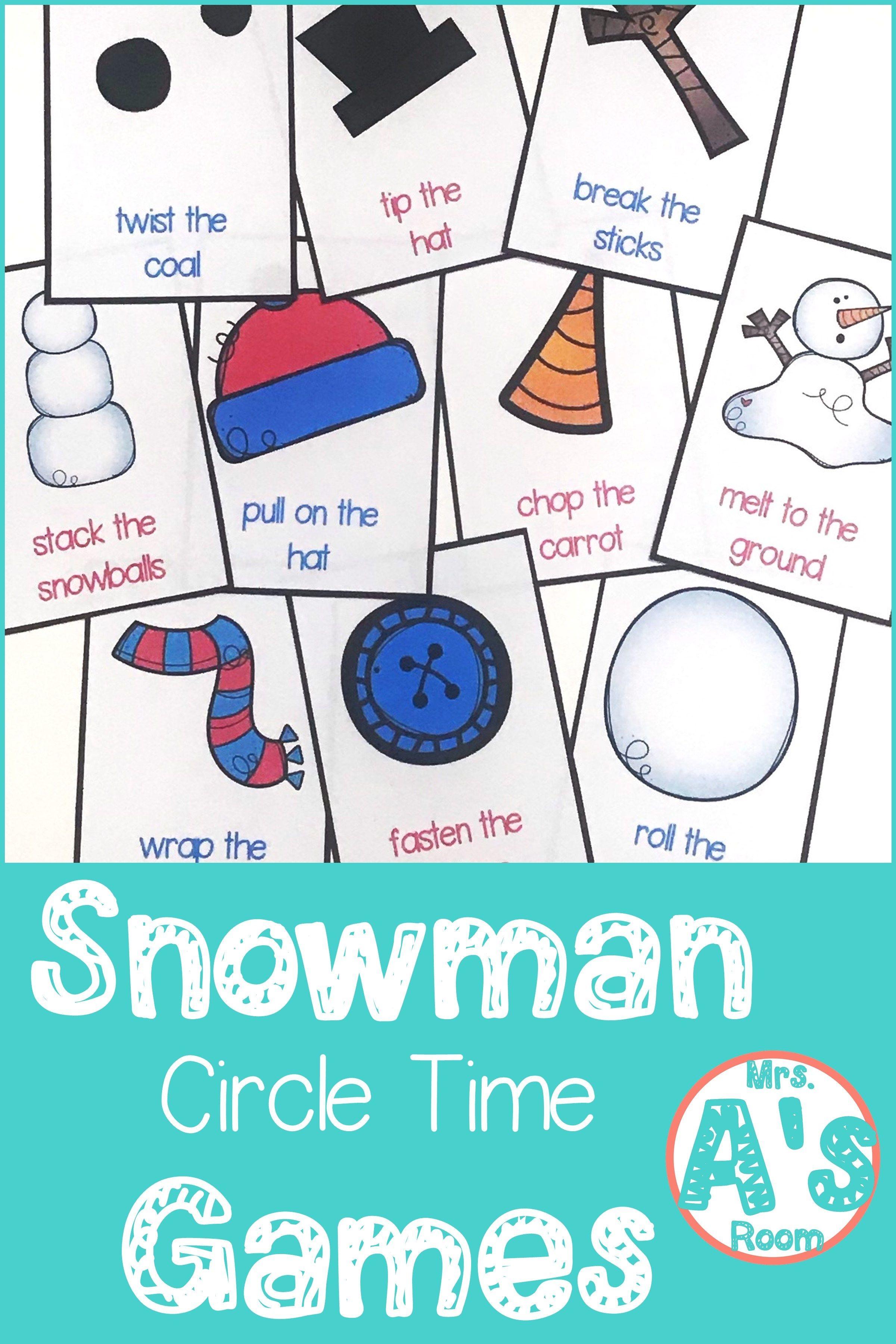 Snowman Circle Time Games