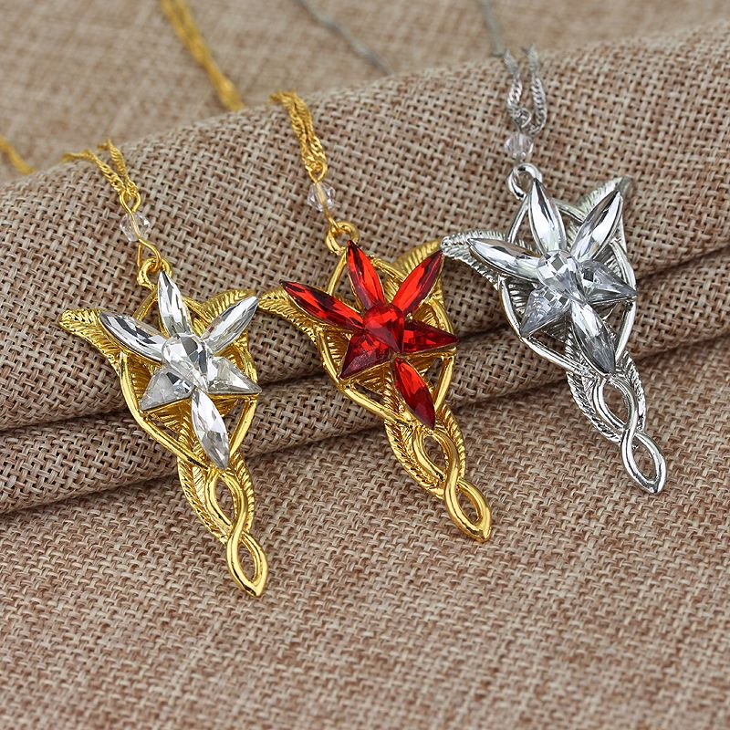 Freeshipping wholesale platinum plated the arwen evenstar pendant freeshipping wholesale platinum plated the arwen evenstar pendant crystal stones necklace from lord aloadofball Choice Image