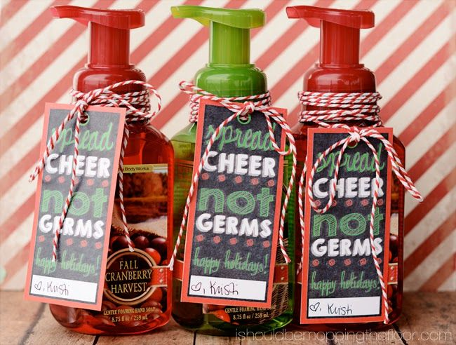 Cute Christmas Soap Gift With Free Printable Tags