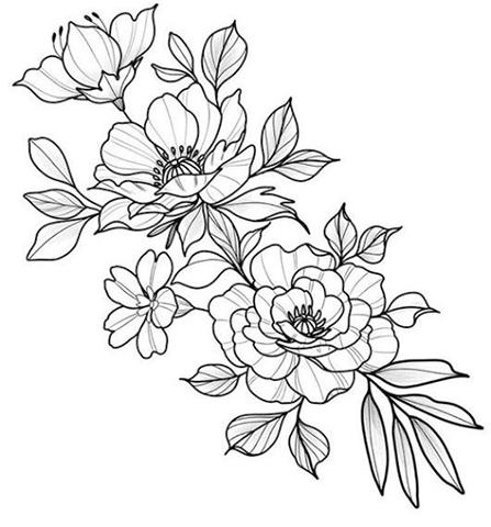 Karakalem Cicek Cizimleri Guzel Sozler Beautiful Flower Drawings Flower Tattoo Drawings Flower Wrist Tattoos