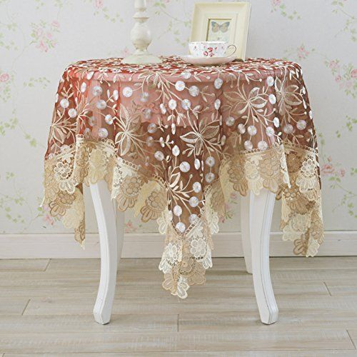European Style Lace Round Tablecloth Dining Room Living Room Dust Proof Coffee Table Cover A 90x90cm 3 Tablecloth Dining Tablecloths For Sale Tablecloth Fabric
