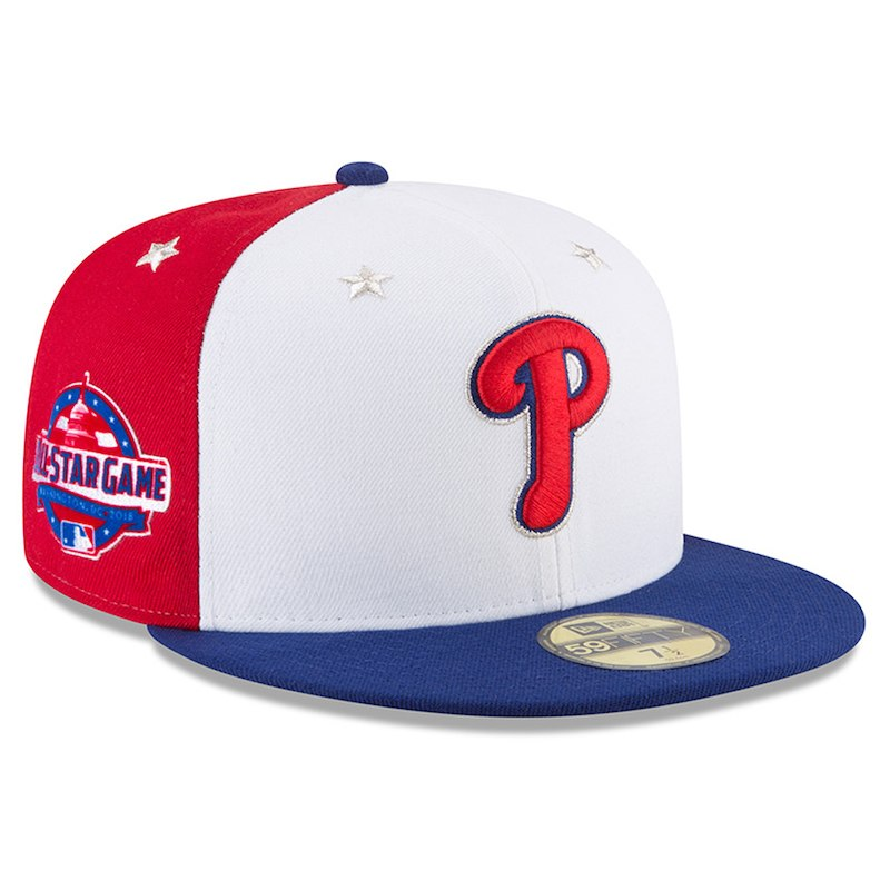 50ad10aaa2482 Philadelphia Phillies New Era 2018 MLB All-Star Game On-Field 59FIFTY  Fitted Hat – White Navy