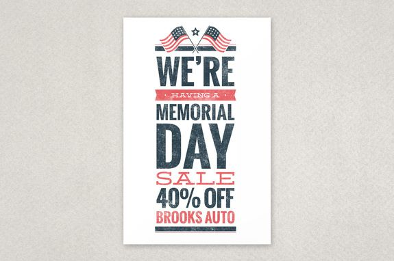 Memorial Day Sale Flyer Template - An Eye-Catching Flyer Design