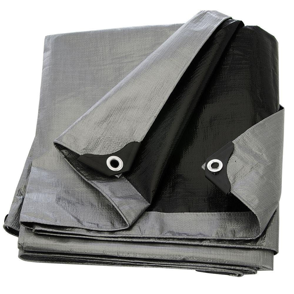 Boen 10 Ft X 20 Ft Silver Black Heavy Duty Tarp St 1020 Black Tarp Waterproof Tarp Tarpaulin