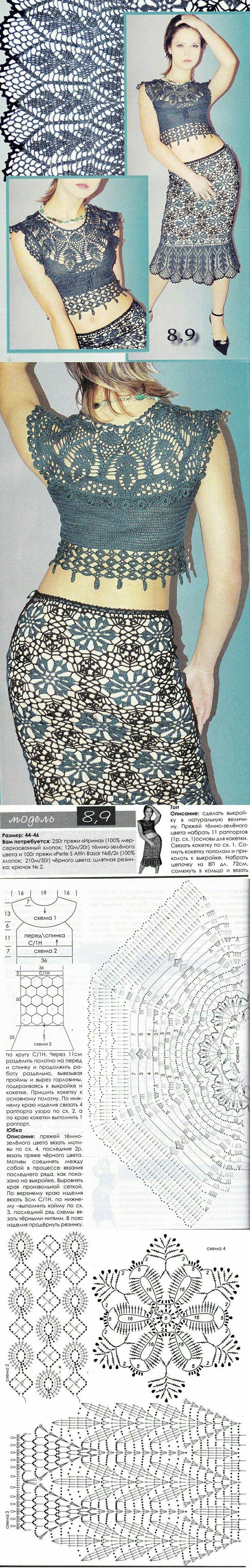 Crochet top and skirt | <br/> Crochet | Ganchillo | Pinterest ...