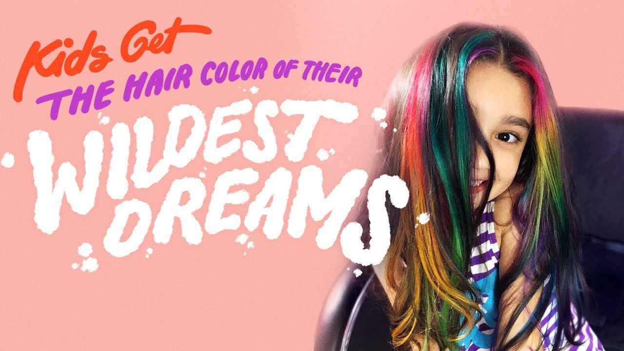 Kids Get The Hair Color Of Their Wildest Dreams Hair Styles