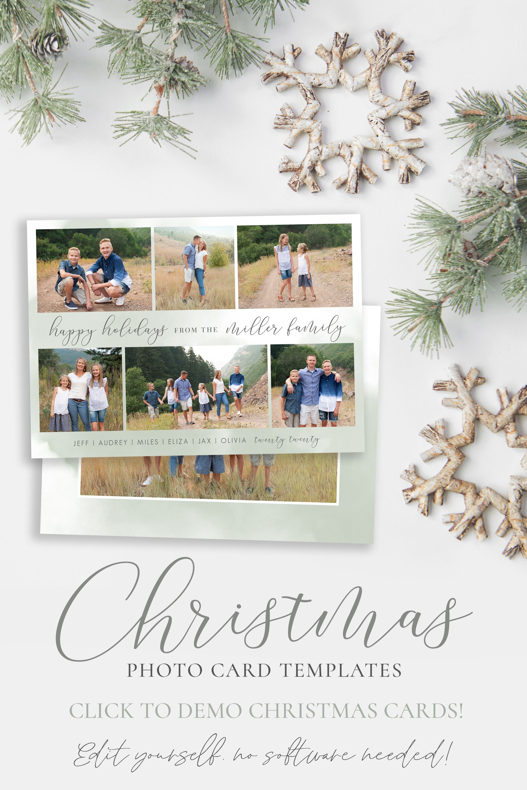 Happy Holidays Card Template Holiday Cards Template 5x7 Etsy Holiday Card Template Happy Holiday Cards Printable Holiday Card
