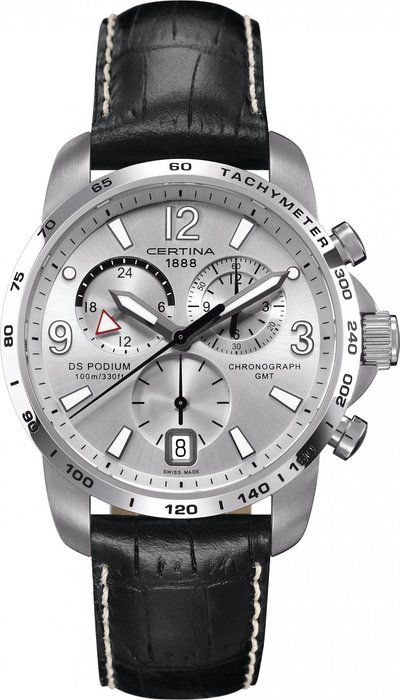 Certina C0016391603700 - Reloj cronógrafo de cuarzo para hombre con correa  de piel 7d323dbae9e8