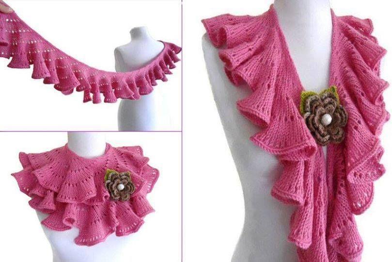Pembe Cok Kullanisli Fular Sal Orgu Modelleri Jpg 809 540 Cowl Knitting Pattern Crochet Collar Crochet Hats