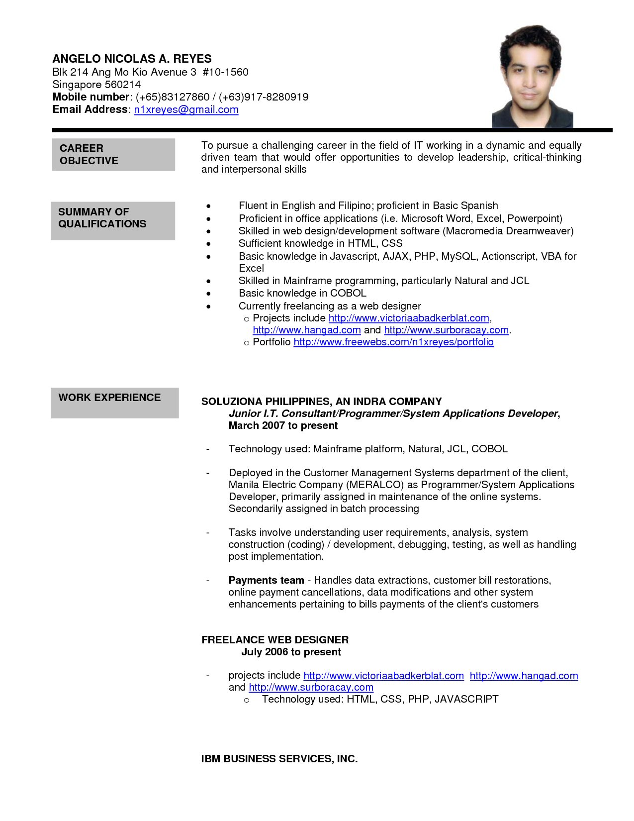 Formal Resume Template Formal Letter Sample Sample Resume Format Best Template Character