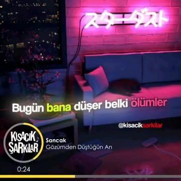 Sancak Gozumden Dustugun An Video Sarkilar Indie Muzik Muzik Alintilari