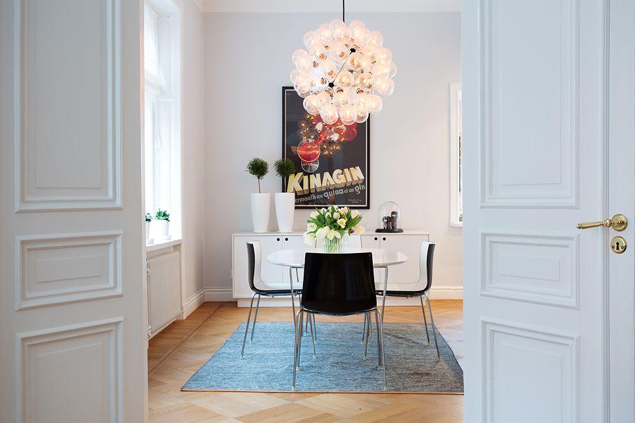 blanc, noir, gris, rouge Salle à manger Pinterest Interiors