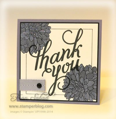 Stamps: Another Thank You, Regarding Dahlias Paper: Whisper White, Basic Black, Wisteria Wonder