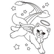lisa frank  coloring pages unicorn coloring pages cat