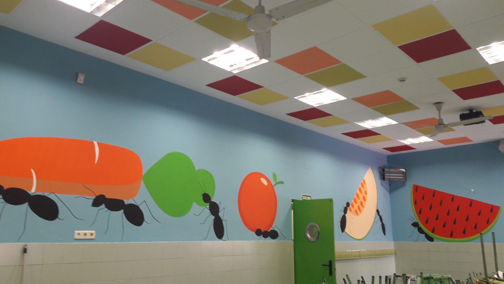 Murales pintados en comedores, Pintura de vallas infantiles ...