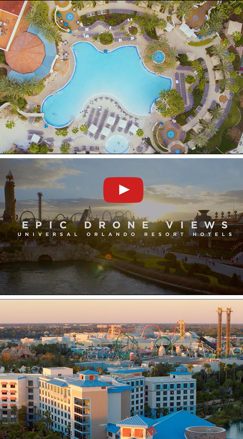 Epic Drone Views Of Our Resort Hotels At Universal Orlando Resort Loews Portofino Bay Hotel Hard R Orlando Resorts Universal Orlando Resort Universal Orlando