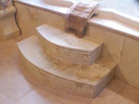 Scagliola Bathtub Steps And Surround