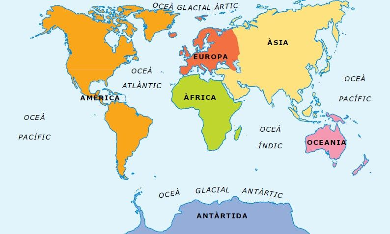 Oceans Mapas Mapamundi Lugares Exoticos