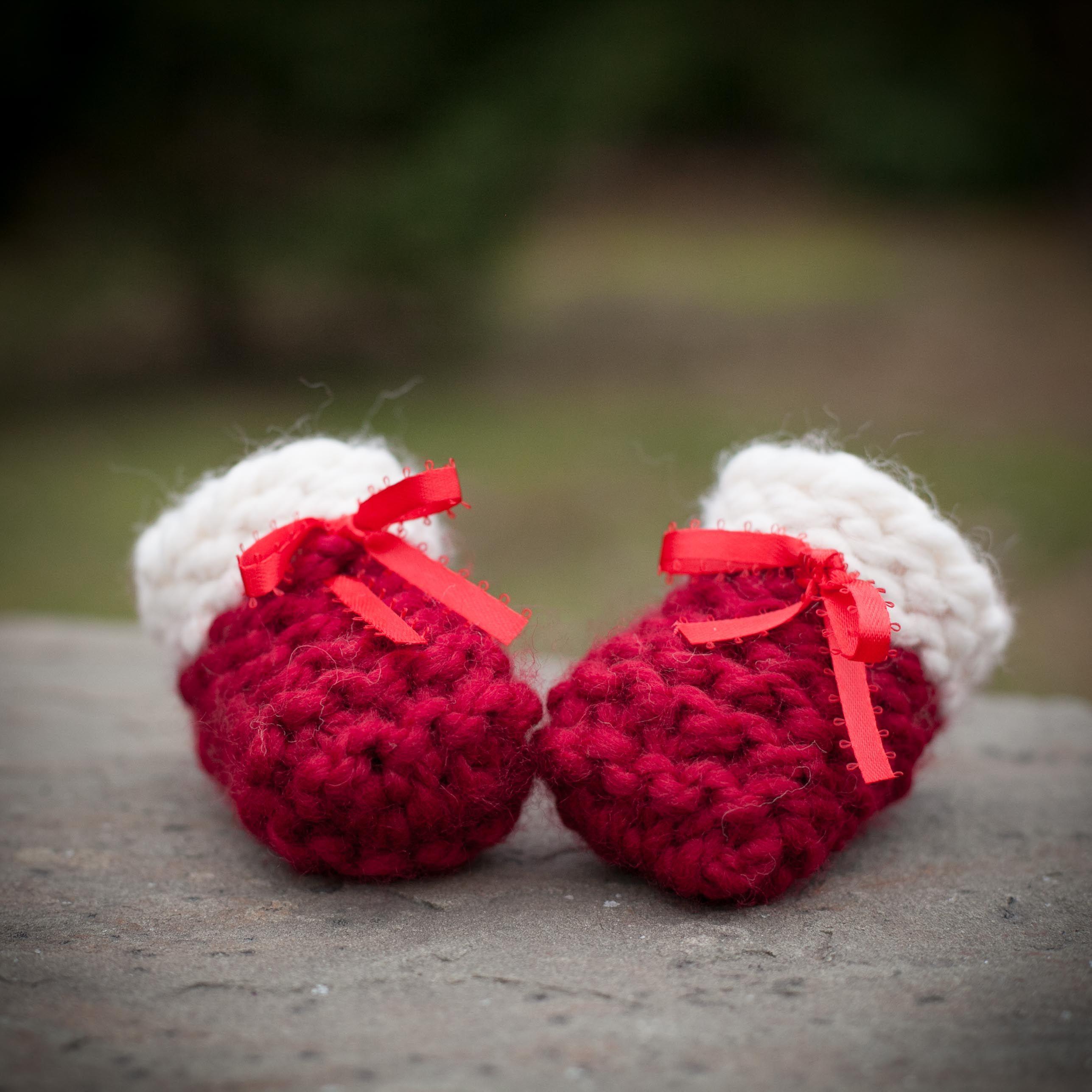 Loom Knit Baby Booties, Shoes, PATTERN, Beginner Friendly, Garter ...