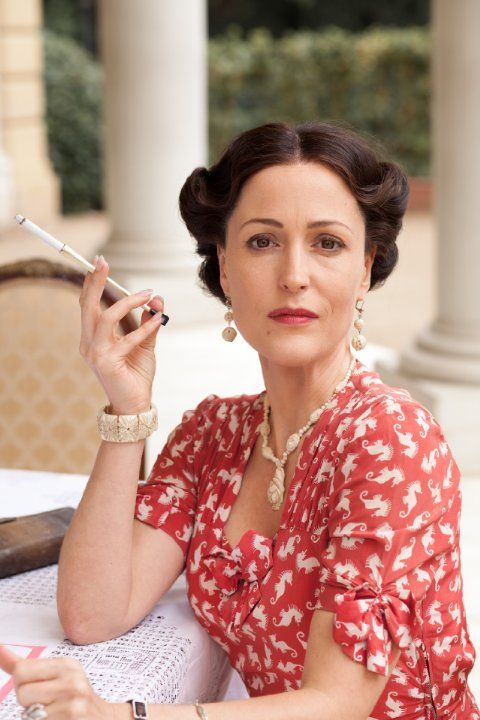 Gillian Anderson (as Wallis Simpson) in Any Human Heart (2010). Look at that seahorse dress!