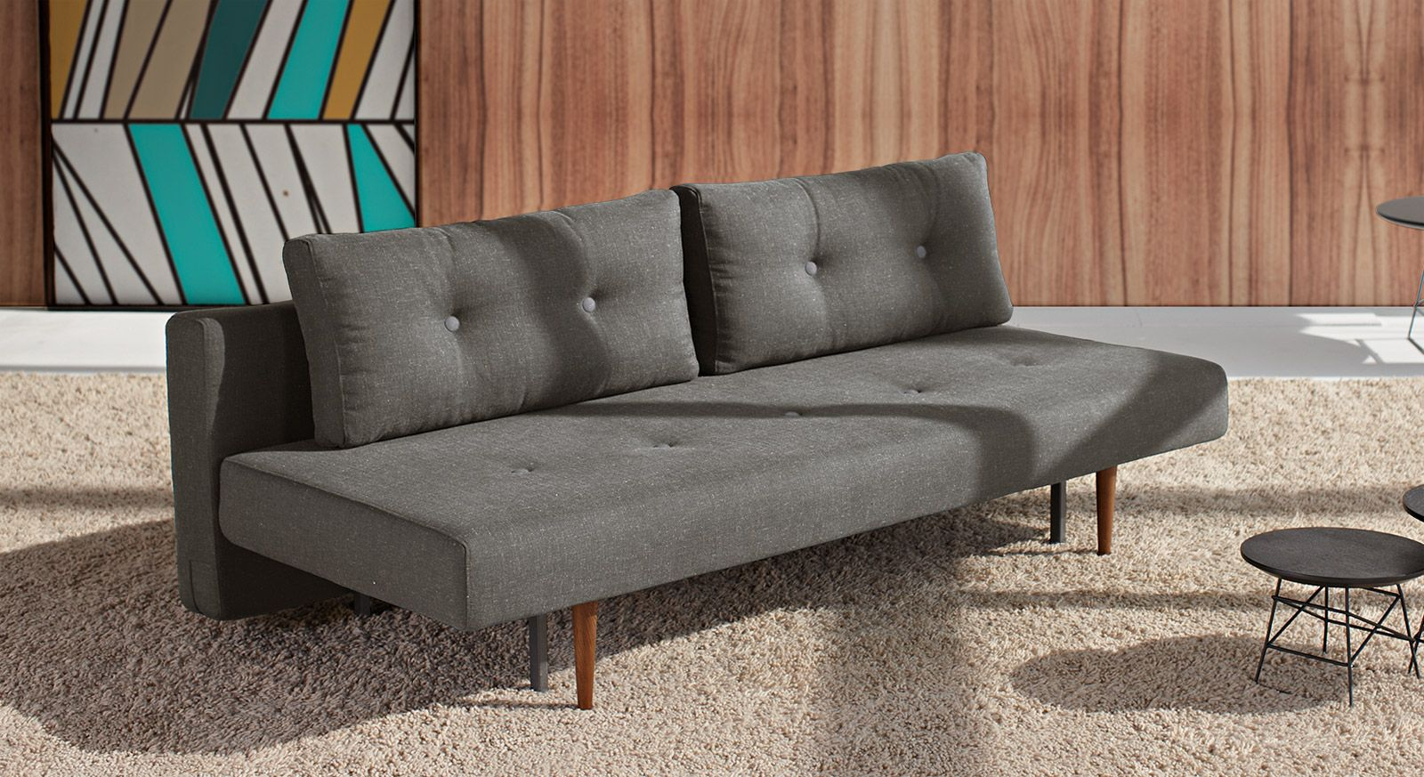 Querschlafer Schlafsofa Im Retrostil In Grau Oder Blau Barnes Sofa Bed Sofa Design Furniture