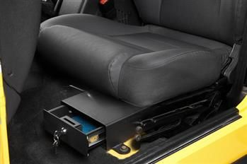 Bestop Under Seat Locking Storage Security Box Black 42641 01 With Images Jeep Wrangler Accessories Jeep Wrangler Tj Wrangler Accessories