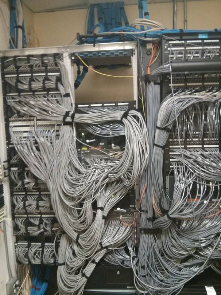 Not really cable management, but a picture of the networking racks ...