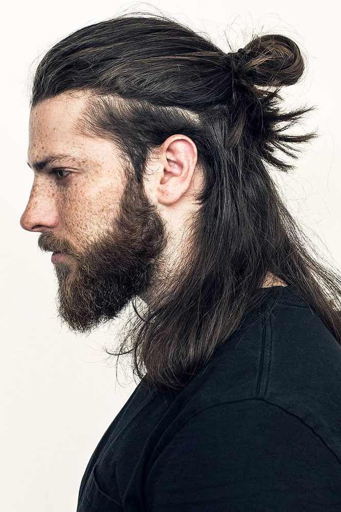 24 New Masculine Takes On Samurai Hair For Modern Warriors Men S Long Hairstyles Long Hair Styles Men Hair Styles