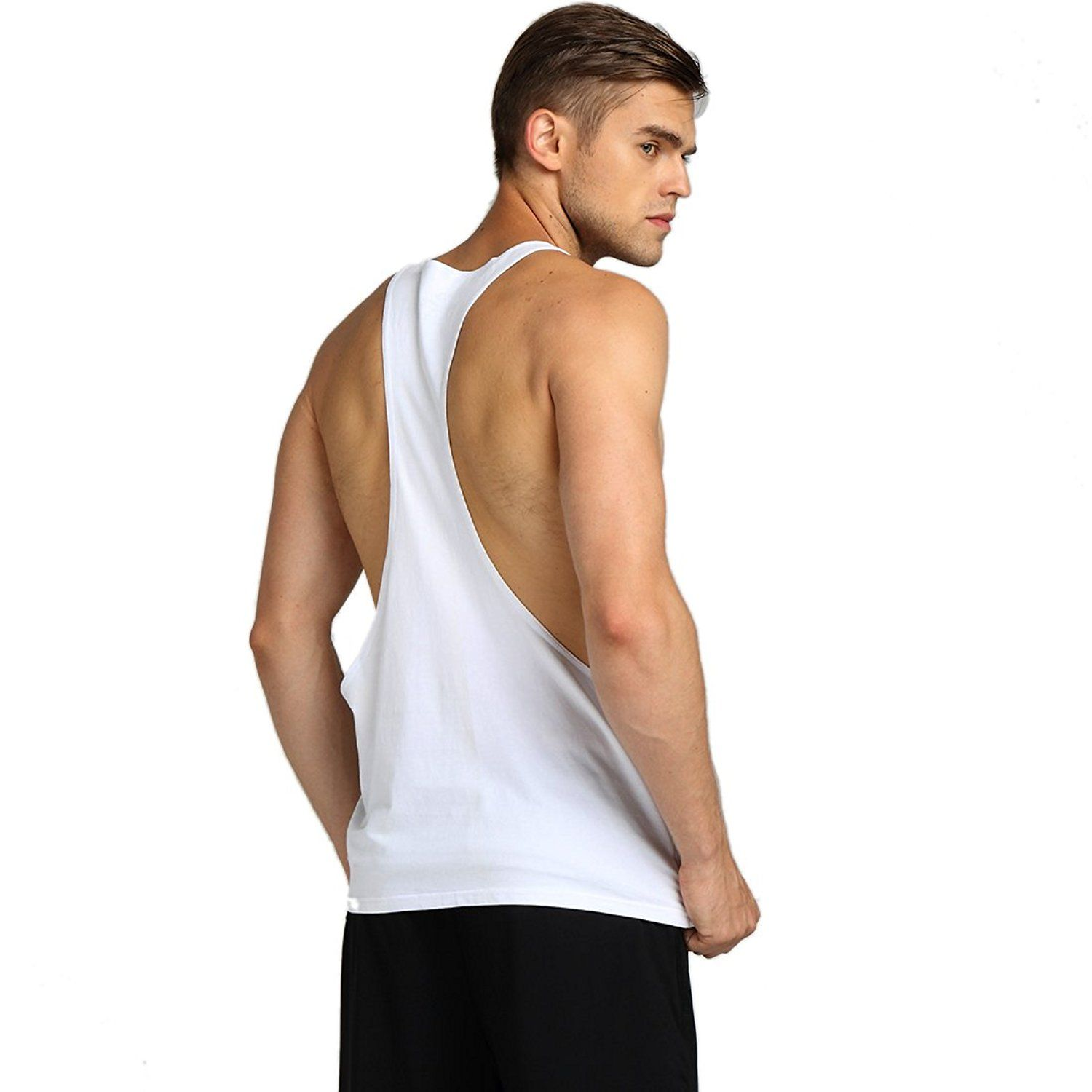 475919cdc7ee6 HASIDING Mens Athletic Stringer Y Back Tank Tops     To view further for  this item